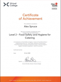 Food Safety and Hygiene for Catering Certificate
